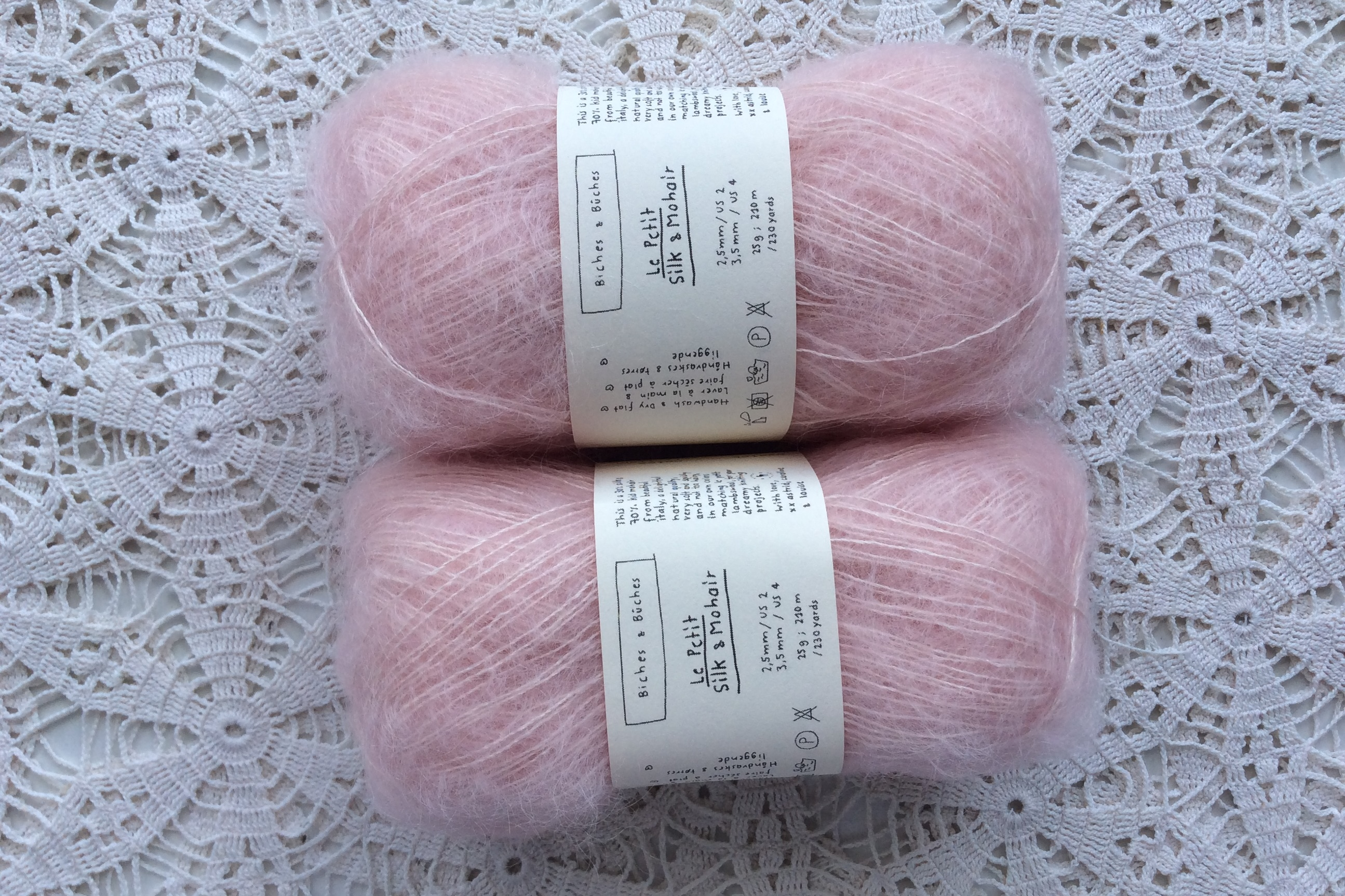 Le Petit Silk & Mohair Very Light Pink