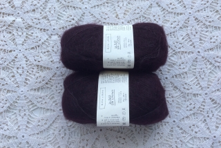 Le Petit Silk & Mohair Dark Burgundy Grey